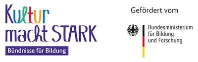 Logo Kultur macht stark gefördert vom Bundesministerium für Bildung und Forschung