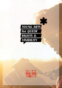 """Titelbild der Broschüre """"Young Arts for Queer Rights and Visibility"""""""
